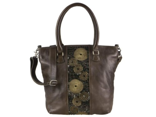 Leder Shopper